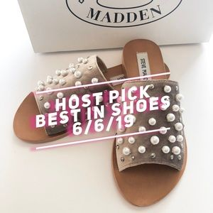 Steve Madden Shoes - 🎉HP!🎉 Steve Madden Taupe Denise Sandal • Sz 6.5